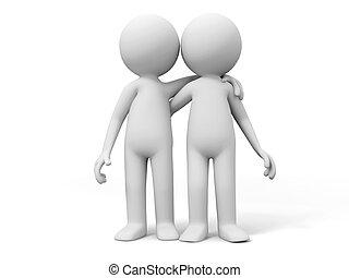 Cooperation,partner,team - Two men stood together