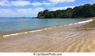 Coopers Beach New Zealand - Panoramic landscape view of...