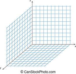 coordenada, triaxial, sistema
