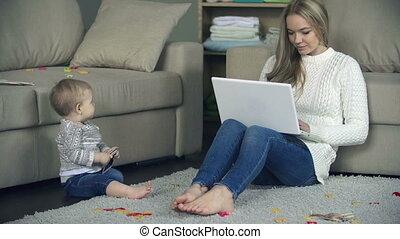 coordinating, moederschap, en, werk