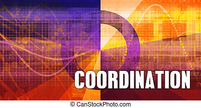 Coordination Focus Concept on a Futuristic Abstract ...