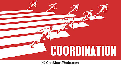 Coordination with Business People Running in a Path