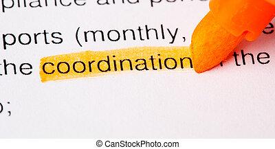coordination word