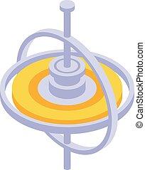 Coordinator gyroscope icon, isometric style