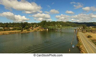 Coos River Chandler Bridge Lillian Slough Oregon State Rural...