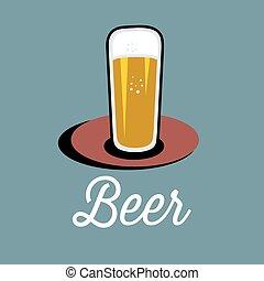 copa de cerveza, sobre la mesa