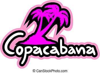 Creative design of copacabana beach