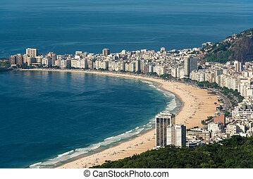 copacabana, de, río, janeiro, brasil