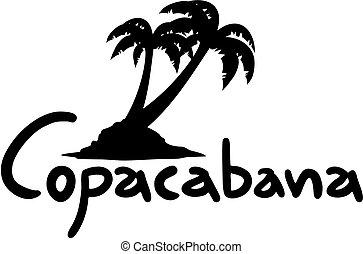 Creative design of copacabana palm