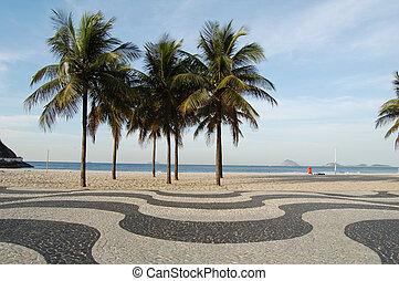 Copacabana sidewalk - in front of the beach