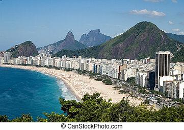 Copacabana - View from copacabana Beach, Rio de Janeiro,...