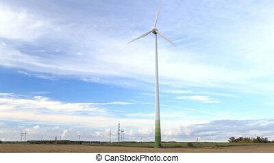 copain, version., field., turbine, vent