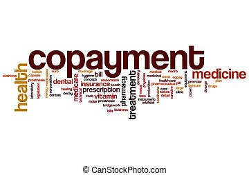 Copayment word cloud concept