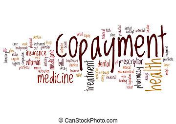 Copayment word cloud concept