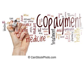 Copayment word cloud