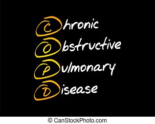 COPD - Chronic Obstructive Pulmonary Disease, acronym health concept background