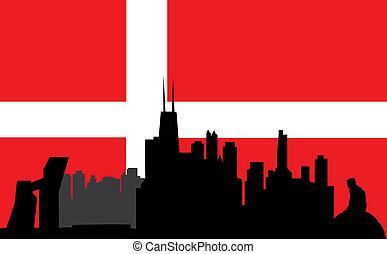 copenhagen and the danish flag