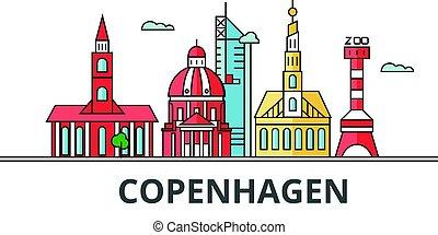 Copenhagen city skyline.
