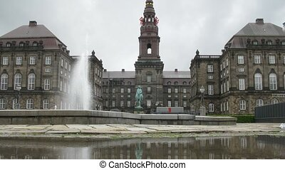 Beautiful Christiansborg Palace - COPENHAGEN, DENMARK - JULY...
