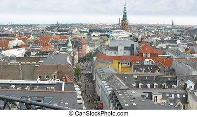 Copenhagen from Rundetaarn tower, time lapse