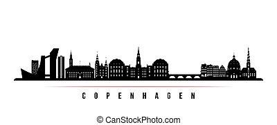 Copenhagen skyline horizontal banner.