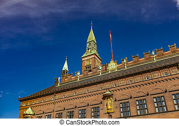 copenhague, danemark, hôtel ville