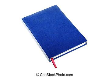 coperchio, isolato, fondo., singolo, libro, bianco, vuoto