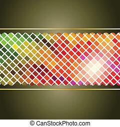coperchio, presentazione, mosaico