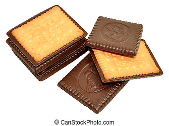 coperto, biscotti, cioccolato