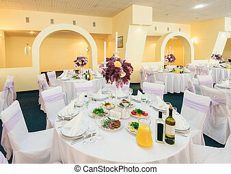 coperto, tavola, banchetto, matrimonio