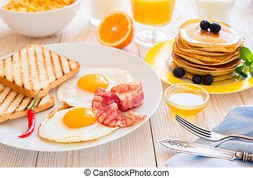 coperto, tavola colazione