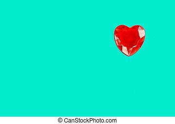 copia, corazón la apariencia, menthe, espacio, agua