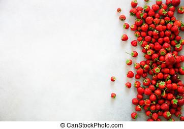 copia, orgánico, sano, macro, concept., vegetariano, space., texture., fresa, fresas, plano de fondo, fresco, vegetariano, vista., bayas, vitamina, cima, verano, comida.