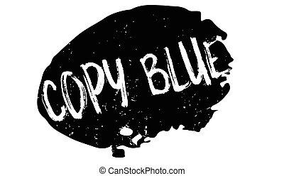 copie, bleu, tampon
