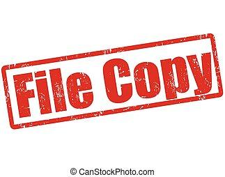 copie fichier, timbre