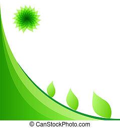copie, fond, space., résumé, file., lumière, eps10, vert