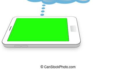 copie, smartphones, espaces, écrans