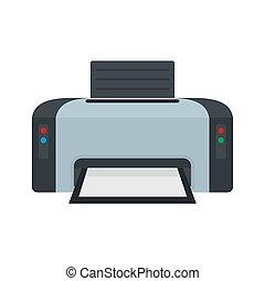 Copier printer icon, flat style