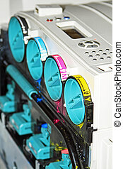Replacing the color cartridge in the copier