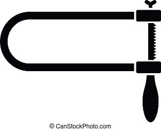 Coping saw icon, simple style