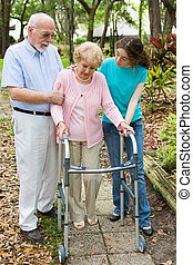 Coping with Aging - Senior woman depressed about her...