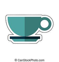 copo, bebida café, quentes, caricatura