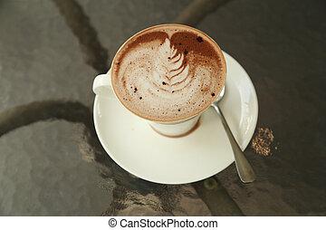 copo, de, chocolate quente