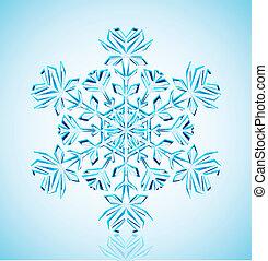copo de nieve, cristal