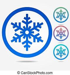 copo de nieve, icono