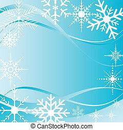 copo de nieve, plano de fondo