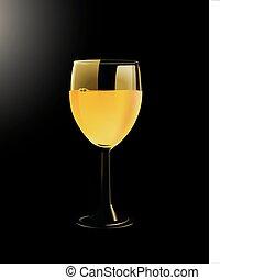 copo, de, vinho