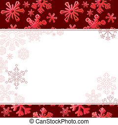 copos de nieve, grande, fondo oscuro, three-dimentional, rojo