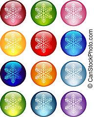 copos de nieve, icono