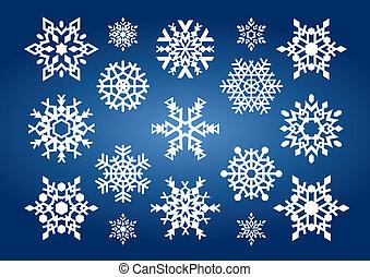 copos de nieve, (illustration)